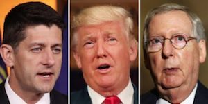 Ryan, Trump and McConnell